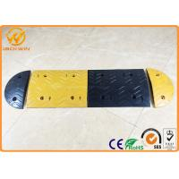 Wholesale Parking Lots Yellow / Black Rubber Speed Bump Car Safety Road Concrete Speed Bumps from china suppliers
