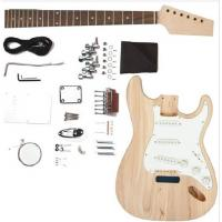 Wholesale Fender ST Style Solid Mahogany DIY Electric Guitar Kits Single Coil Guitar AG-ST2 from china suppliers