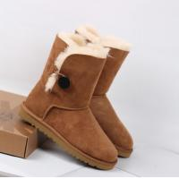 Wholesale hot sales Leather snow boot,2014 UGG short BOOT,UGG Button Suede Ankle Boots for women from china suppliers