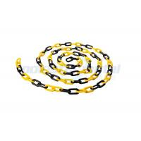 Wholesale 8 MM Diameter Traffic Cone Plastic Chain Link With Black Yellow Color from china suppliers