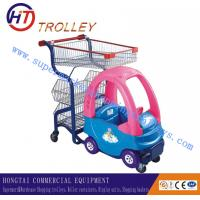 Wholesale Lovely Chrome Plated Baby / Children Shopping Carts With Wire Basket from china suppliers