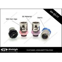 Buy cheap Stainless Steel / Delrin 510 Drip Tip Old Man  Drip Tips Small Guy logo from wholesalers