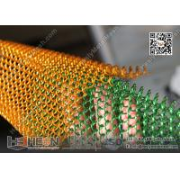 Quality Green Color Decorative Chainlink Curtain | China Metal Curtain Factory for sale