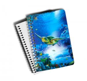 China Eco-friendly PET 3D Lenticular Notebook , Custom Print A5 Exercise Book on sale
