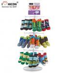Wholesale Footwear Shop Metal Display Racks , Rotating Table Top Sock Display Rack from china suppliers