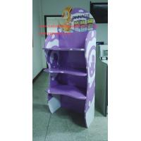 Quality Infant formula cardboard floor display stand 3 shelves supporting 40kg for sale