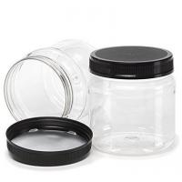 550ml 18oz Crystal Clear PET Plastic  Jars with Screw on Red Lids Food Storage Containers , assorted Colors , pack of 1