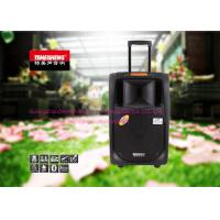 Wholesale Black Portable Trolley Audio Box Speaker With USB / SD / FM / Bluetooth Function from china suppliers