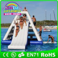 Wholesale QinDa Inflatable water game inflatable floating water slide inflatable pool water slide from china suppliers