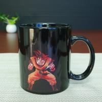 Wholesale Best Selling Dragon Ball Color Changing Mug Red Goku Magic Mug 300ml / 11OZ from china suppliers