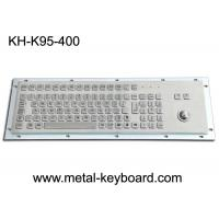 Wholesale Panel Mount Metal Industrial Keyboard With Trackball 95 Keys Standard PC Layout from china suppliers