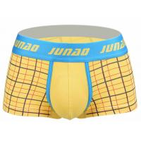 China High Stretch Short Trunks Underwear , Low Rise Male Boxers Underwear for sale