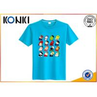 Wholesale Pattern Custom Screen Printed T Shirts , Deep Round Neck T Shirt Men from china suppliers