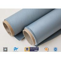 China Thermal Insulation Materials 31OZ 0.85MM Grey Silicone Coated Fiberglass Fabric on sale