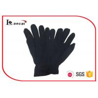 Wholesale Black Polar Fleece Warmest Winter Gloves For Men , Mens Common Style Gloves from china suppliers