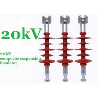 Wholesale Red 20kV Polymer Suspension Insulators Minimum Creepage Distance 750mm from china suppliers