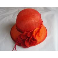 China sinamay hat lady red FTC13-25 on sale