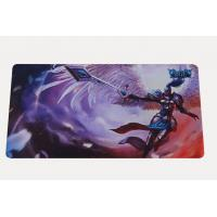 Quality Eco-Friendly Rubber Play Mat Polyester Fabric Top For Card Games for sale