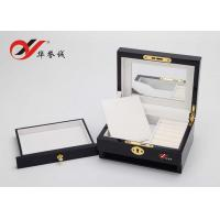 Quality Beautiful Color Handmade Wooden Jewelry Box With Drawers / Lock Color Customized for sale