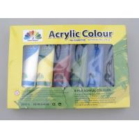 Wholesale 6 X 75ml Acrylic Paint Tubes Acrylic Paint Starter Colors Set For Wood / Paper / Glass from china suppliers