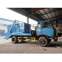 Wholesale Dongfeng 4*2 10CBM swing arms garbage truck/skip loader garbage truck, 2017s new dongfeng swing arm garbage truck from china suppliers