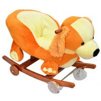 Wholesale Fashion Orange Baby Rocking Chair Dog Animal Plush Toys With Music For Children Playing Riding from china suppliers