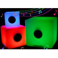Buy cheap Illuminated glow led lighting color changing rechargeable bluetooth music cube from wholesalers