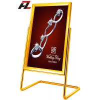 Wholesale L Shape Swing Display Stands-Stainless Steel Poster Display from china suppliers