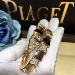Bvlgari half diamond snake Bracelet 18k gold white gold yellow gold rose gold diamond Bracelet