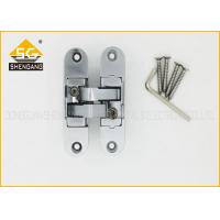 Quality Zinc Alloy Concealed Invisible Door Hinges , 3D Adjsuatble Cupboard Door Hinges for sale