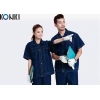 Wholesale Denim Fabric Short Sleeve Custom Work Uniform Durable Uniform For Workers from china suppliers