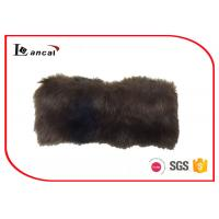 Wholesale Matt Satin Lining Brown Fur Snood Scarf Adults SGS / ITS / REACH Compliance from china suppliers