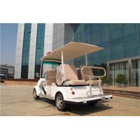 Quality White 6 Seater Electric Car For Sightseeing , Electric Patrol Car With Six Seats for sale