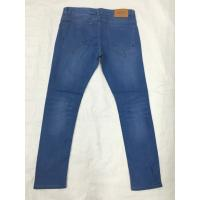 Wholesale Dark Aged Wash Slim Straight Fit Pants For Men , Regular Rise Baggy Mens Jeans from china suppliers
