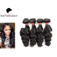 Wholesale Indian 6A Remy Hair Natural Black Loose Wave Human Hair Weaving Without Chemical from china suppliers