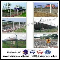 Wholesale Green PVC coated railway Fence from china suppliers