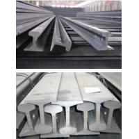 Wholesale P38 P20 Heavy Steel Crane Rail for Overhead Crane , 114 MM Bottom Width from china suppliers