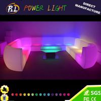 Wholesale Party LED Furniture/Illuminated Bar Sofa LED Plastic Sofa from china suppliers