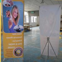 Wholesale Adjustable X Stand Banners With Grommets Single / Double Sides from china suppliers