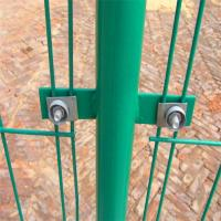 Wholesale Double wire mesh fence /pvc coated green wire mesh fence from china suppliers