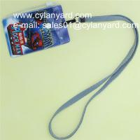 Wholesale Cheap blank polyester id badge neck strap with print plastic pouch from china suppliers