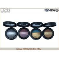 Wholesale Glitter Assorted Baked Eye Shadow Palette , 3 Color Eyeshadow Palette For Dark Brown Eyes from china suppliers
