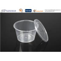 Wholesale Disposable plastic storage food containers with lids , round small PP Food Boxes from china suppliers
