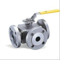 Wholesale Flange Type Hand Manual 3 Three Way Stainless Steel Ball Valve L Port T Port from china suppliers