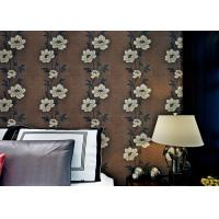 Wholesale Floral Interior House Decoration Wallpaper With Non Woven Materials , Brown Color from china suppliers