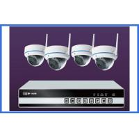 Wholesale 4 Channel Wireless IP Kit Indoor Dome Cameras Support Mobile Monitor from china suppliers