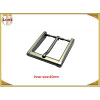 Wholesale 40mm Square Zinc Alloy Custom Metal Belt Buckles With CNC Engraved Logo from china suppliers