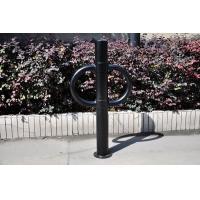 Custom Blue Iron Metal Display Stands Bicycle Rack In Public