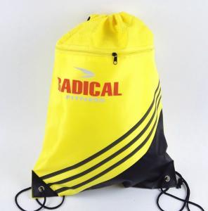 China custom printing polyester/ nylon draw string bag on sale