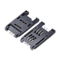 Wholesale Electrical connector manufacturer wholesale 2.54mm pitch 6 circuits flip type SIM Card Connector from china suppliers